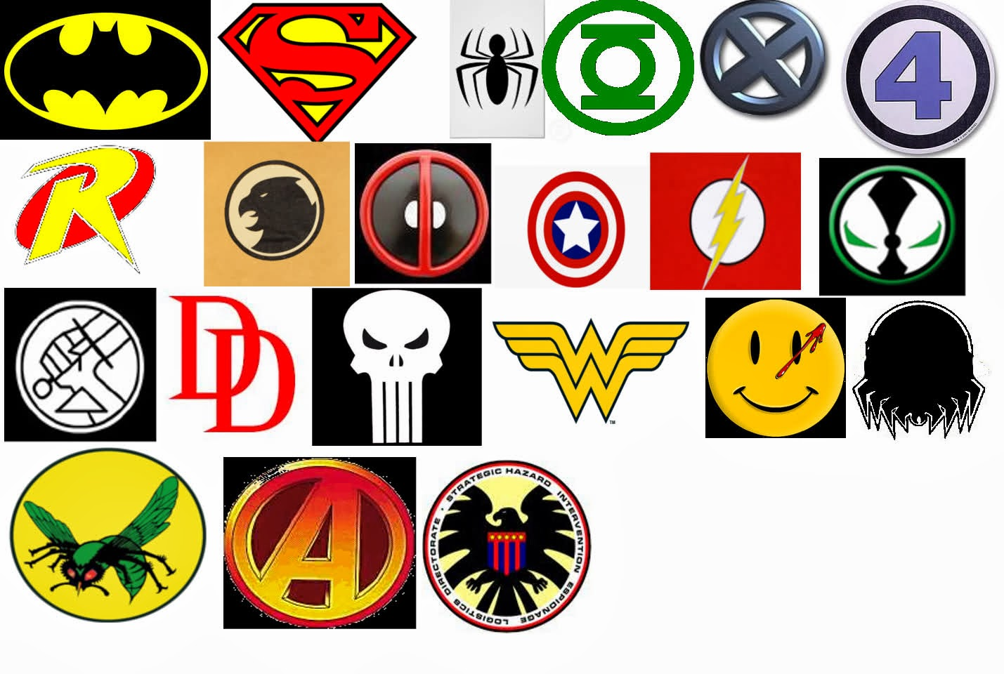Superhero Logo Names And Symbols