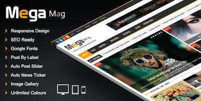 Mega Mag - Responsive Magazine Blogger Template , Download - Mega Mag V1.30 - Responsive Magazine blogger template , download template premium mega mag v.1.30 gratis