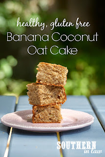 Healthy Banana Coconut Oat Cake Recipe
