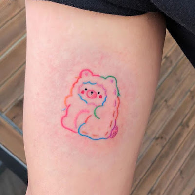 cute teddy bear tattoo for girls