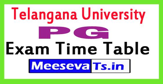 Telangana University PG Exam Time Table
