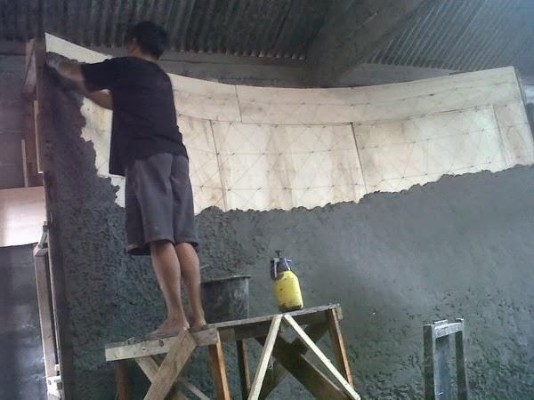 pembuatan konstruksi relief