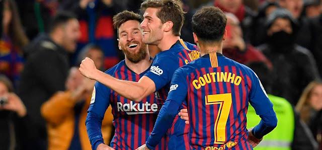 Messi comandó la paliza ofreciendo un recital de pases.