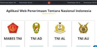 Pendaftaran TNI AD TNI AL TNI AU Online