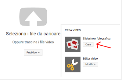 Creare video con musica da foto su Youtube