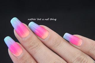Neon gradient nail art