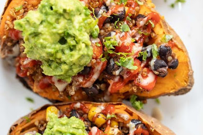 Mexican Quinoa Stuffed Sweet Potatoes