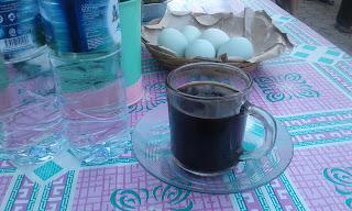 Secangkir kopi di pasar induk sangatta