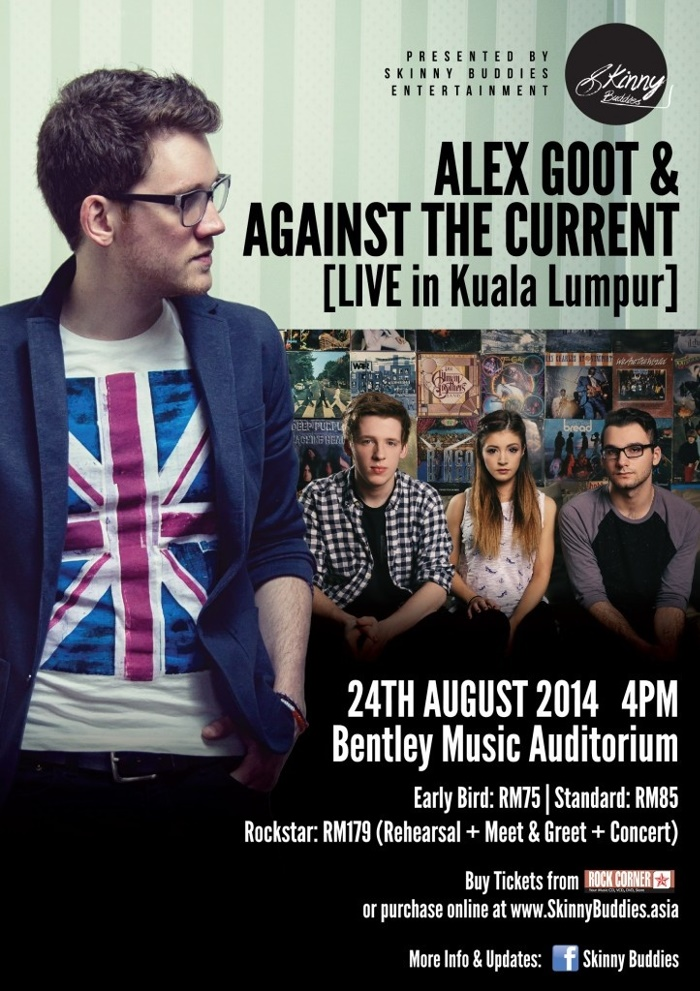 Alex Goot & Against The Current Live In KL 2014 24th August 2014 | 4.00pm  Bentley Music Auditorium