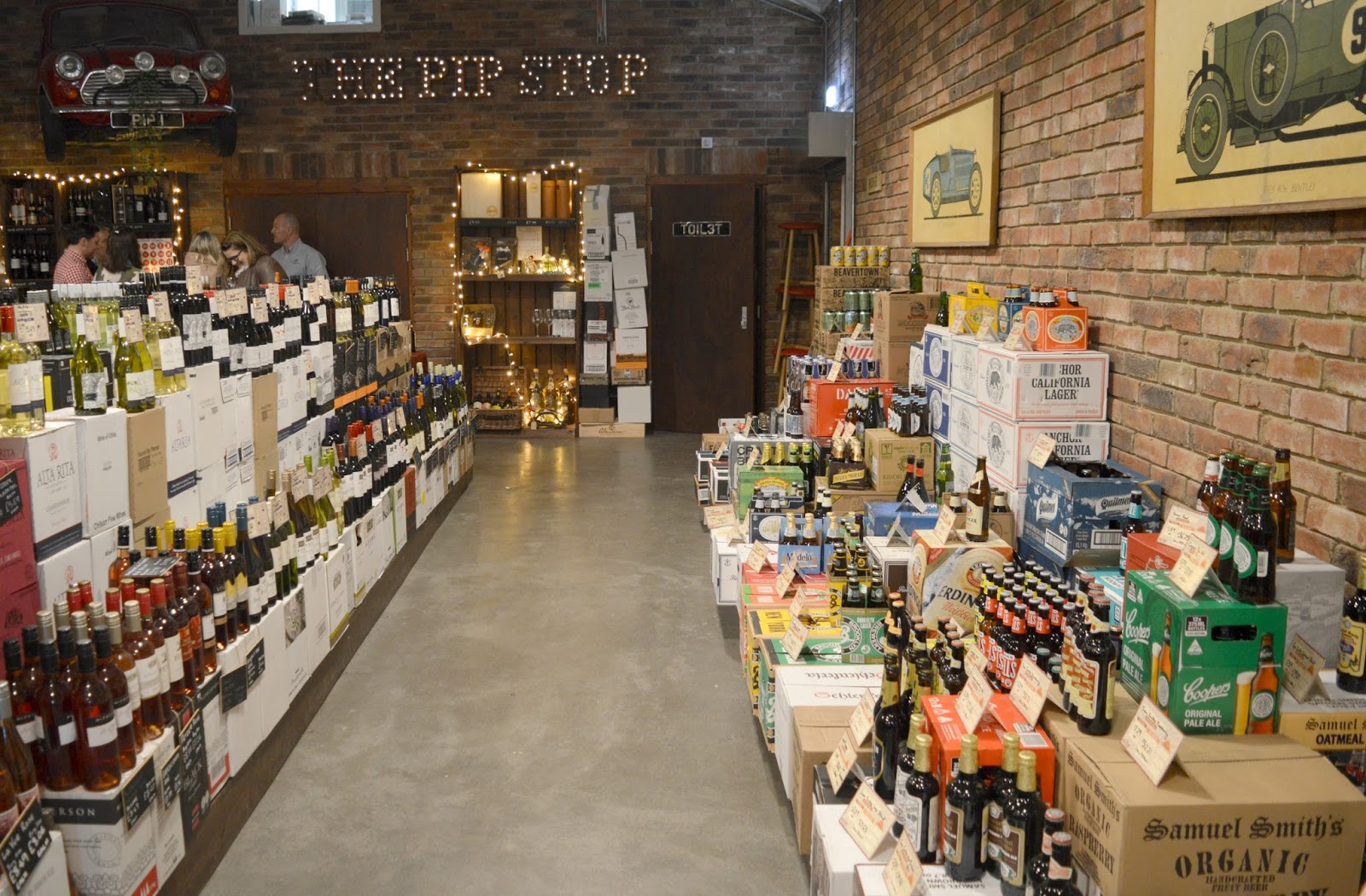 Buy Wine and Craft Beer from The Pip Stop - a quirky converted garage in Lanchester, County Durham. Expert staff and tastings. Order Online too - inside the shop