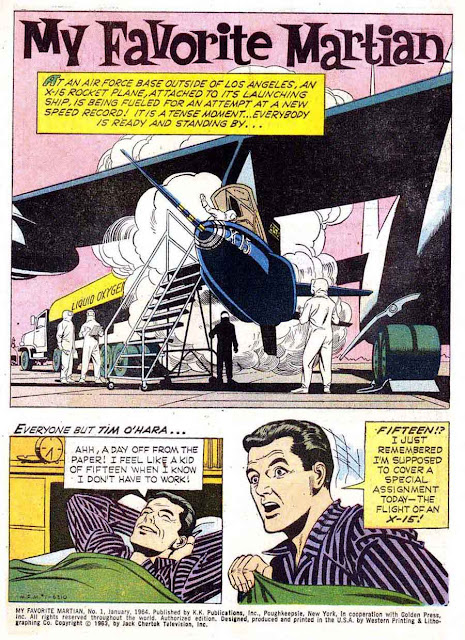 My Favorite Martian v1 #1 dell tv silver age 1960s comic book page art by Russ Manning