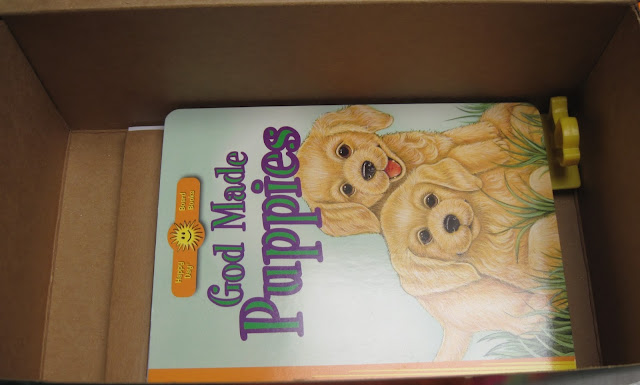Hard cover book for 2 to 4 year old girl OCC shoebox.
