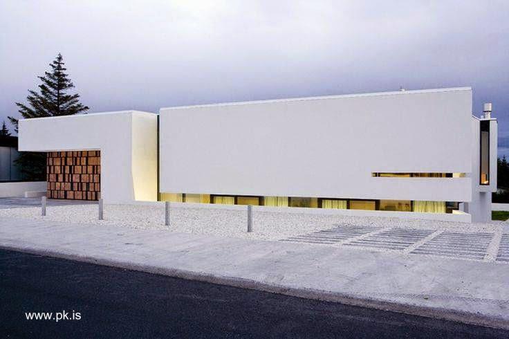 Casa residencial moderna de estilo Contemporáneo en Islandia
