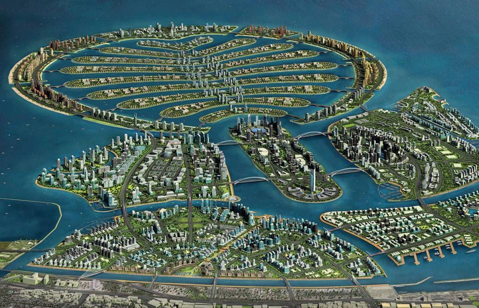 Tasa Delhi Magnificent Man Made Island The Palm Islands In Dubai