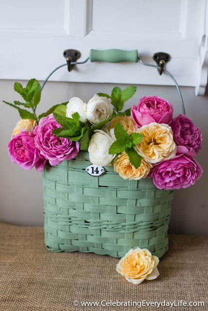 Give an old basket a new look. How to paint a basket with milk paint.
