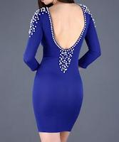 Hesaplı Şık Mezuniyet Balosu Abiyeleri Modelleri saks mavisi