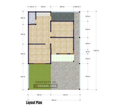 Desain Rumah Minimalis Tampak Depan 8x12