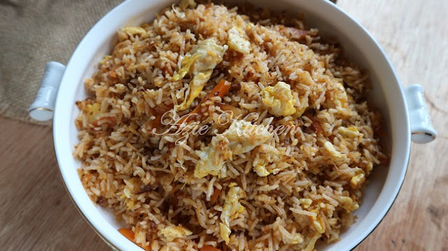 Nasi Goreng Ikan Bilis Hidangan Di Pagi Hari Raya Aidil Adha