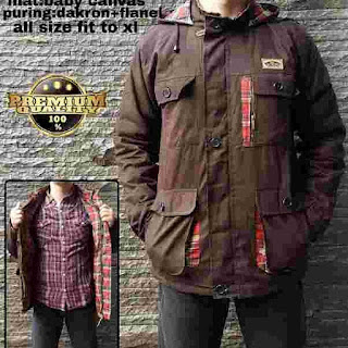 Parka kanvas premium brown