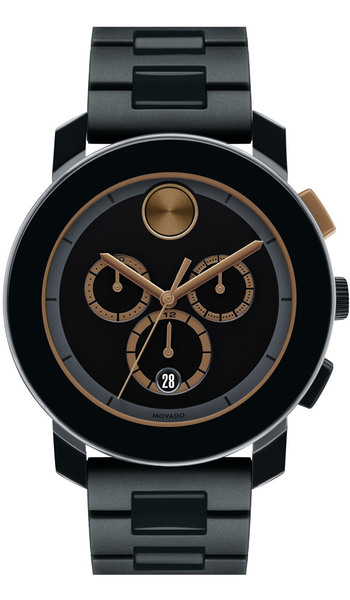 Movado 'Bold' Chronograph Bracelet Watch, 44mm