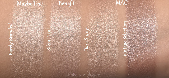 Mac Bare Study Dupe Maybelline Barely Branded Swatch