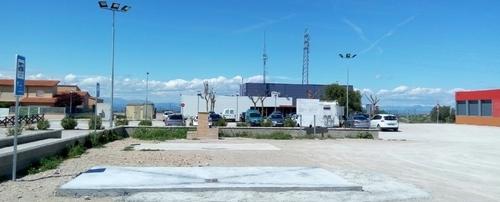 Vista de l'àrea d'autocaravanes de Cervera