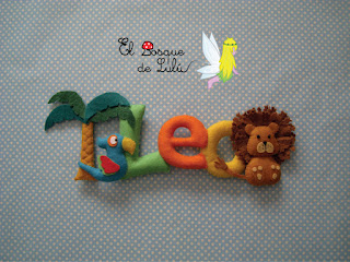 nombre-fieltro-Leo-leó-elbosquedelulu-decoración-infantil-name-banner-felt-feltro-baby-room-decoration-kids-regalo-personalizado-nacimiento
