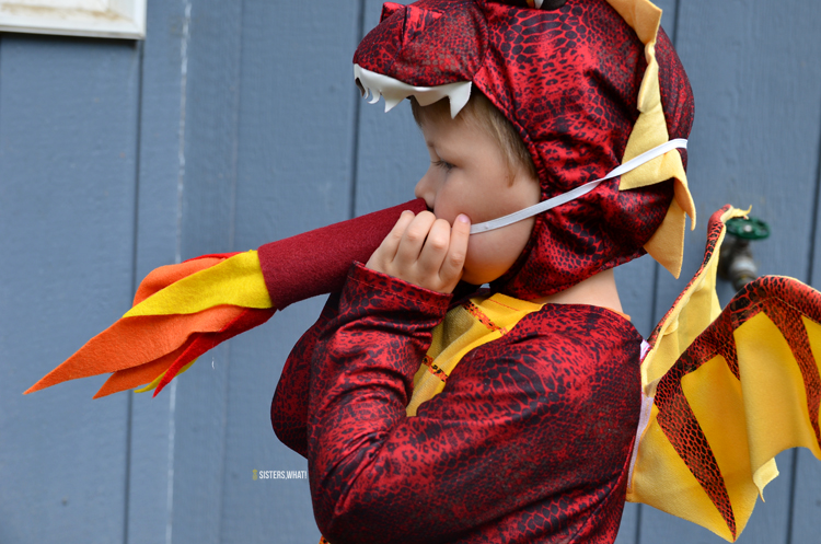 how to make dragon fire costume