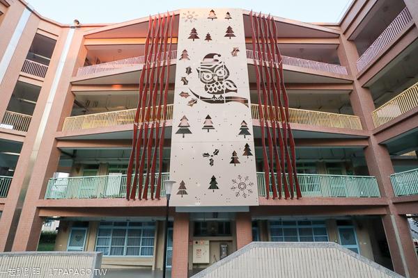 新光國小|台中太平特色校園|貓頭鷹主題牆|戶外遊戲場|在地特色彩繪