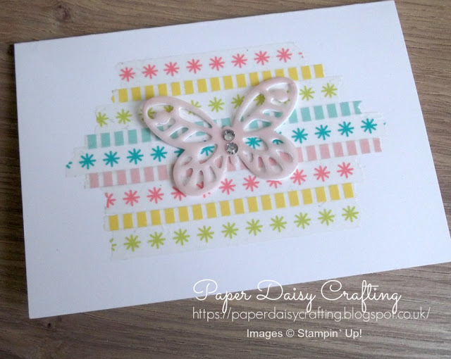 Washi tape and bold butterflies from Stampin' Up!