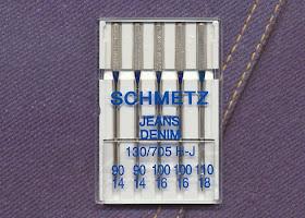 NM 100//16 SCHMETZ Agujas para m/áquina de coser de tela vaquera 130//705 H-J 5 piezas