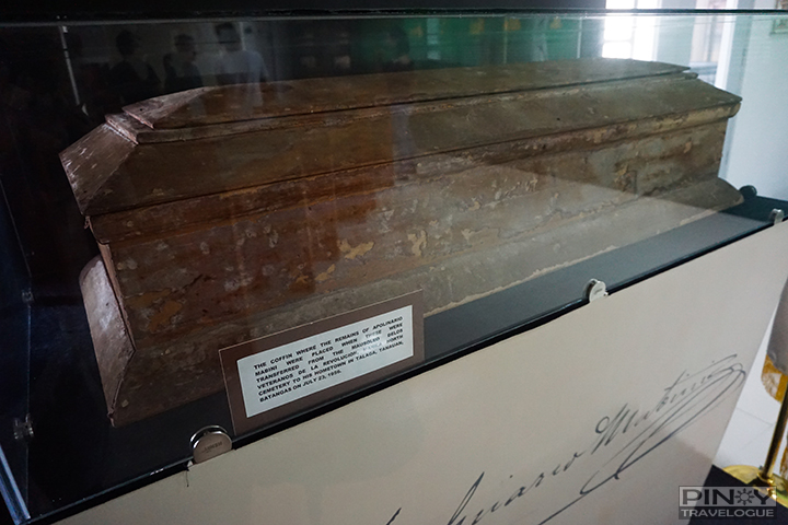 Coffin that carried Mabini's remains when it was transferred from Manila to Tanauan