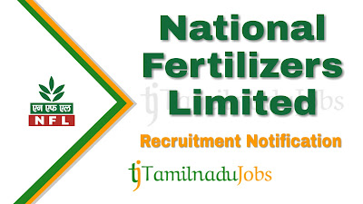 NFL Recruitment notification 2019, govt jobs for B.Sc ( Agri)