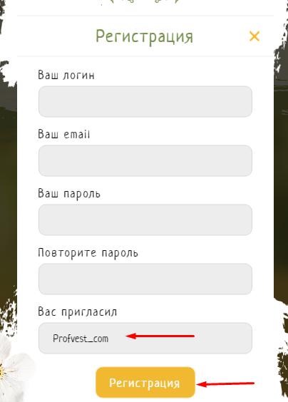 Регистрация в Tvorim Dobro 2