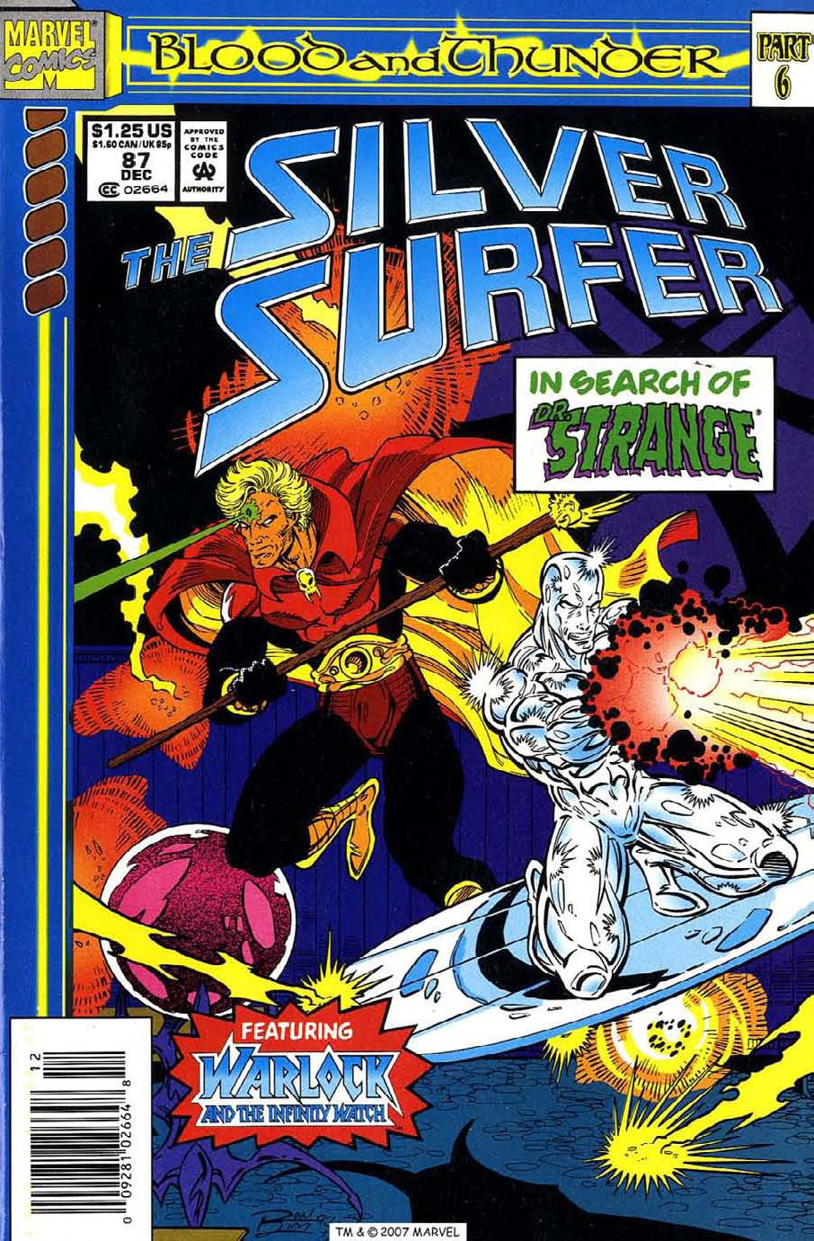 Read online Silver Surfer (1987) comic -  Issue #87 - 1