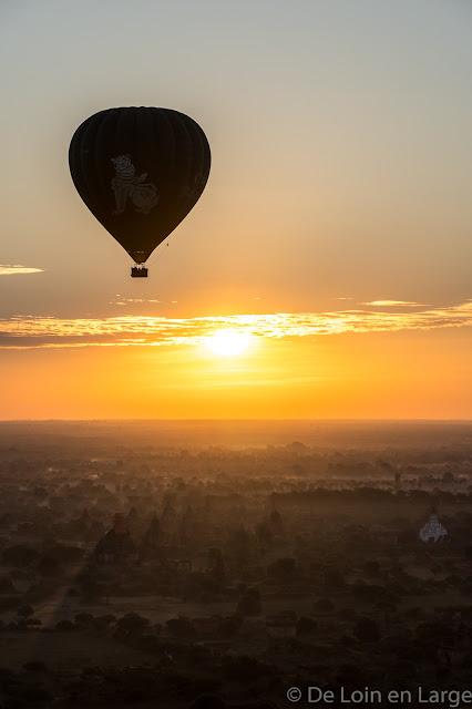 Au dessus de Bagan - Myanmar - Birmanie