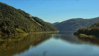 Rio Pelotas, em Vacaria - Marca a divisa do Rio Grande do Sul com Santa Catarina