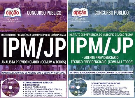 Apostila IPM-JP João Pessoa 2018 - Todos os cargosAnalista Previdenciário, Analista Previdenciário e Técnico Previdenciário