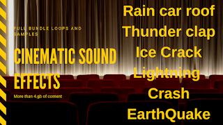 stock audio cinematic impact sound
