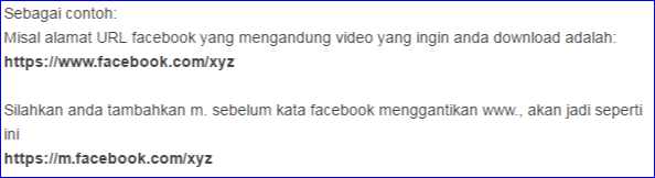 Trik simpan video dari facebook