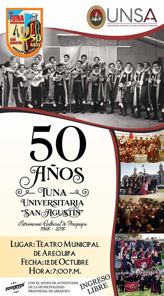 50 años de la Tuna de la UNSA - 12 de octubre
