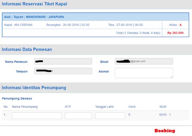 informasi reservasi Tiket Kapal