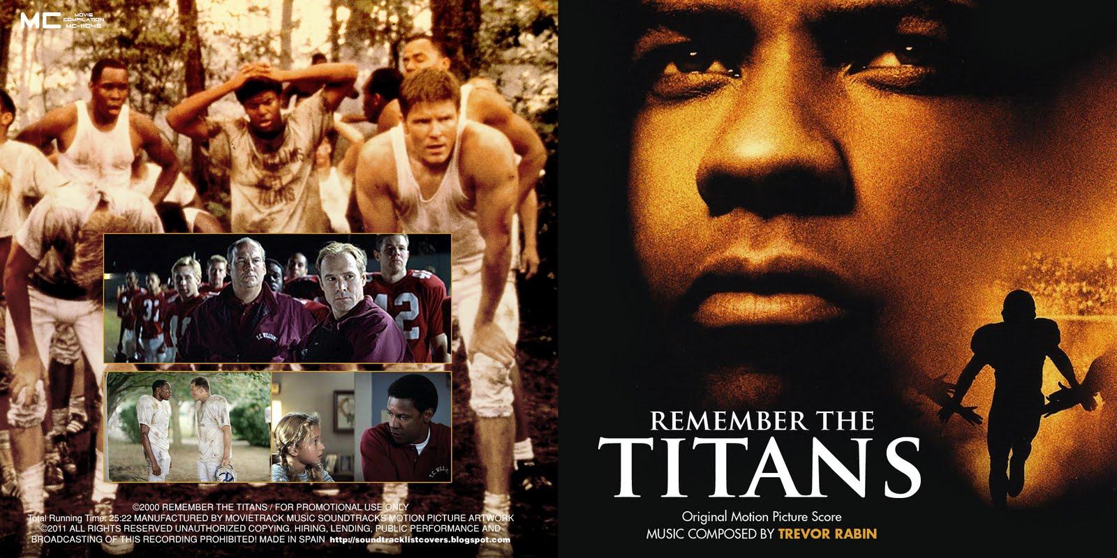 Soundtrack List Covers: Remember The Titans (Trevor Rabin