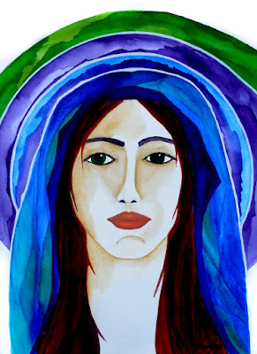 Warrior in Prayer an Original Watercolor Painting Day Six of 30 Warrior Women in 30 Days