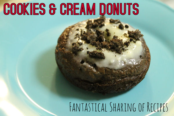 Cookies & Cream Donuts | Sinful devil's food cake donuts with Oreos mixed in | www.fantasticalsharing.com
