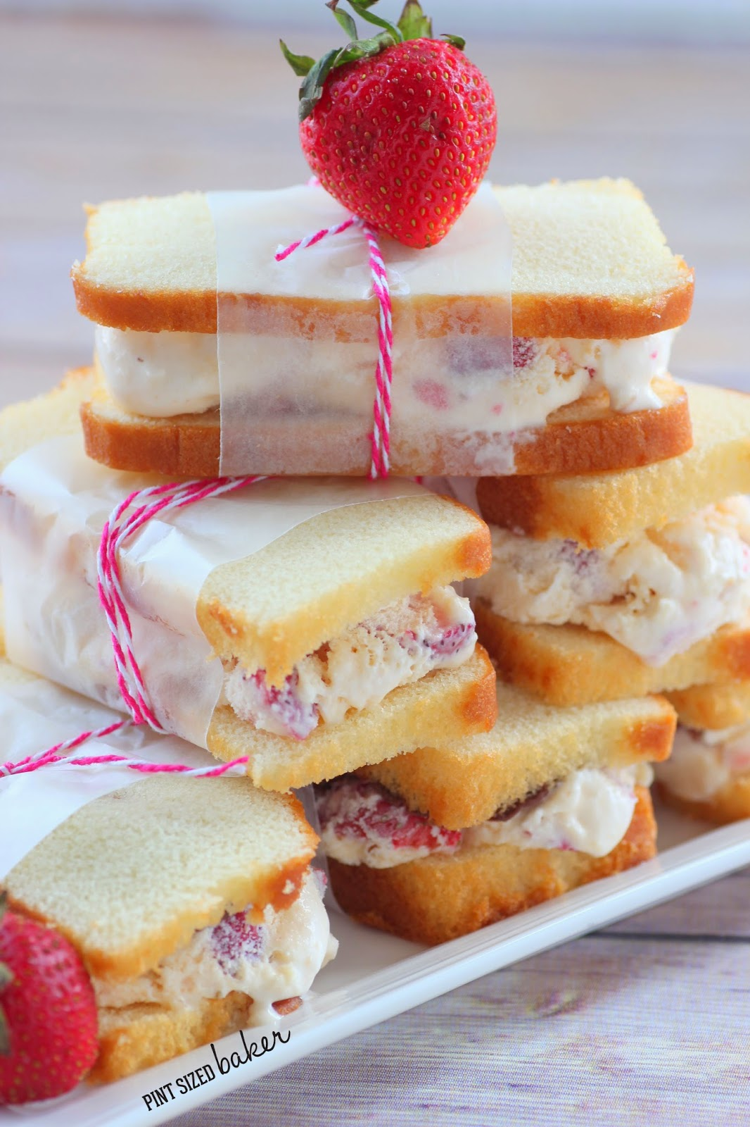 Strawberry Shortcake Ice Cream Sandwiches Pint Sized Baker
