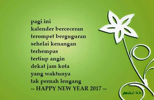 Puisi Ucapan Selamat Tahun Baru