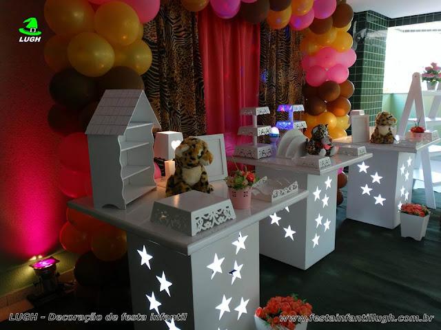 Festa temática da Oncinha - Aniversário de meninas - Decoração infantil