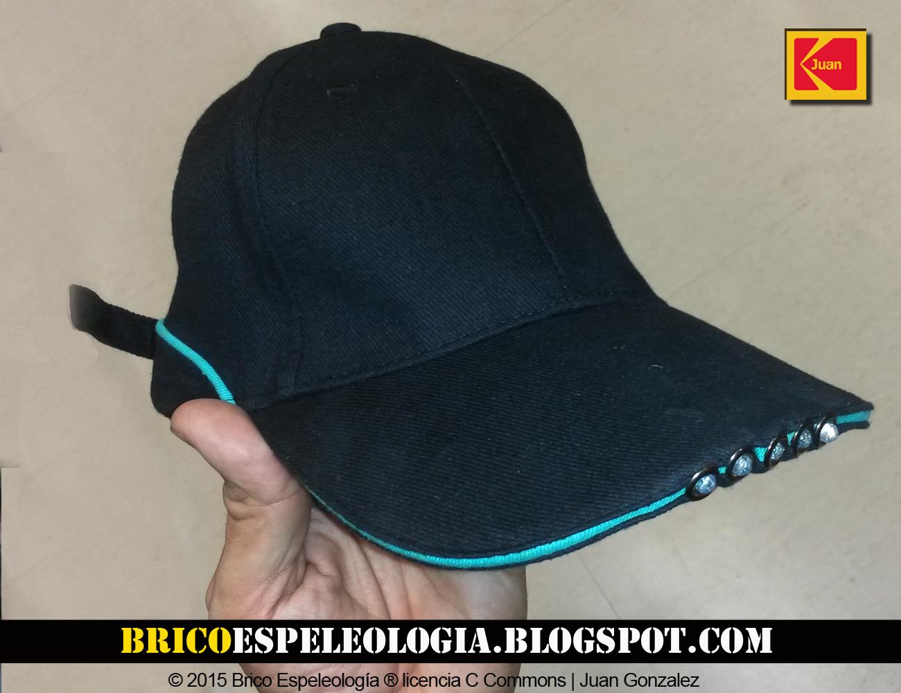 Brico Espeleologia  Light-cap de Wolfcraft  La gorra con luz cf29cc35b31