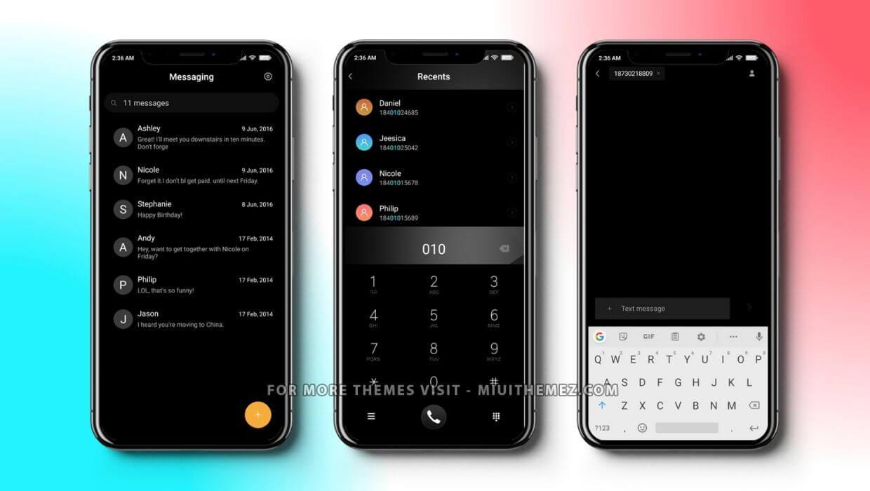 iOS 13 Pro Black v11 MIUI Theme